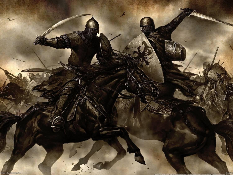 Обои «воин»), замок, доспех, мост, рацарь, осада, всадник, оружие, штурм. Разное foto 11